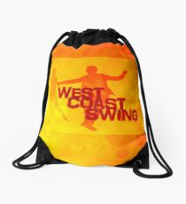 West Coast swing Drawstring Bag