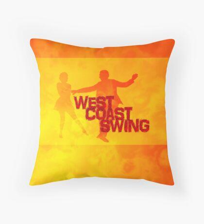 West Coast swing Throw Pillow