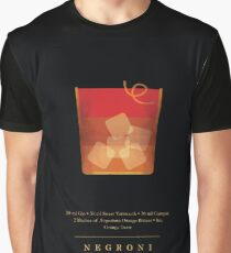 Negroni - Cocktail - Classic Cocktails Series - Black and Gold - Modern, Minimal Decor Graphic T-Shirt