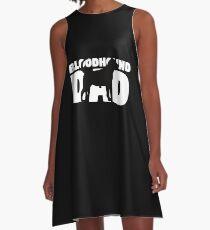 Bluthund-Vati-T-Shirt Bluthund-Geschenk-Vater Dog Dad Tee A-Linien Kleid