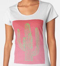 Deserted Cactus - chevron pink Women's Premium T-Shirt