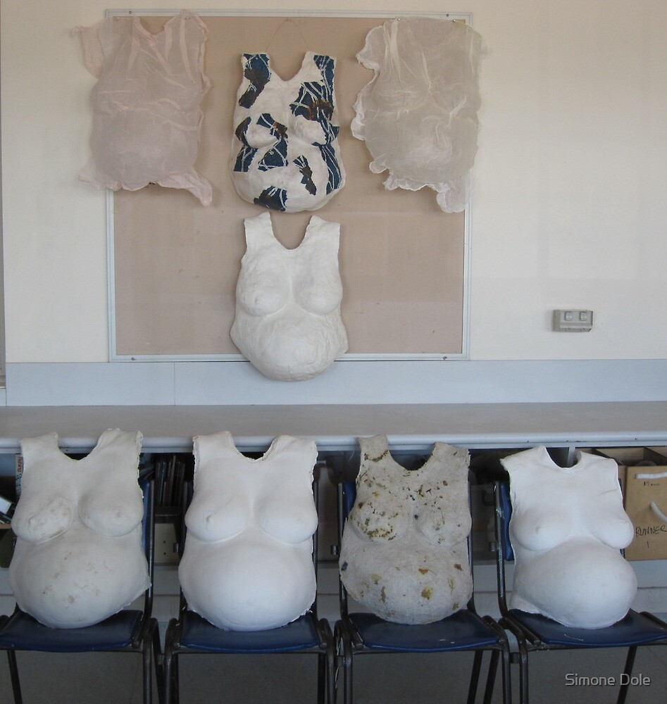 The Waiting Room (installation of sculptures) by Simone Dole