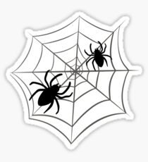 Spiders in the web Sticker