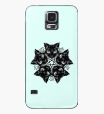 Cats - Cat - Witch - Catagram - Cat Pentagram - Occult - Coven - in Black Case/Skin for Samsung Galaxy
