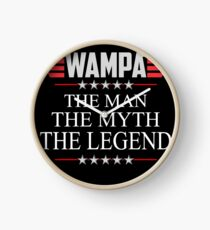 Wampa The Man The Myth The Legend Father's day xmas gift Clock
