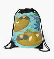 sloth in the jungle Drawstring Bag