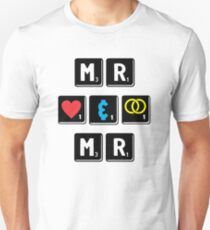 Mr and Mr - Gay Interest - from Bent Sentiments Unisex T-Shirt