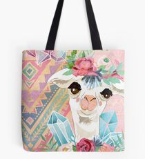 Vintage Boho Alpacas for Makers, Crafters, Knitters, Crocheters, all crafts. Tote Bag