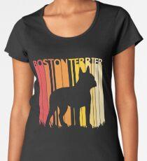 Vintage Retro Boston Terrier Christmas Gift Women's Premium T-Shirt