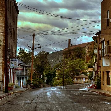 Rainswept Streets of Jerome by DianaG