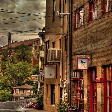 Stormy Street Of Jerome Arizona by DianaG