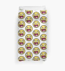 Awesome Face Funny Meme Smiley Emoticon Duvet Cover