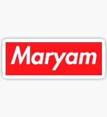 Maryam Name Tag Stickers | Redbubble