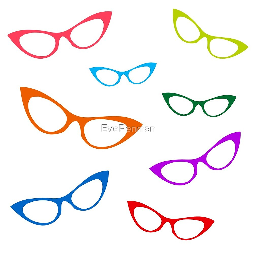 Colorful Cat Eyes Glasses by EvePenman