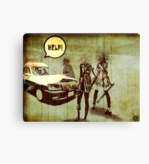 Girls Who Don't Like Authority II Canvas Print