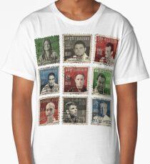 Gracie BJJ Brazilian Jiu Jitsu Hero stamps Long T-Shirt