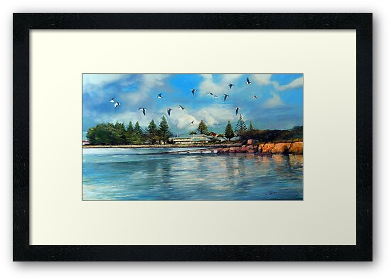 Robe Hotel Terns - Late Afternoon.  Robe, South Australia  by Tanya Zaadstra