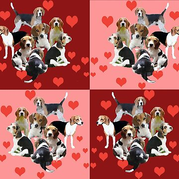 Colorful beagles and squares by IowaArtist