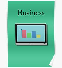 Business laptop Poster