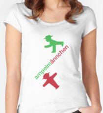 Ampelmännchen Tailliertes Rundhals-Shirt
