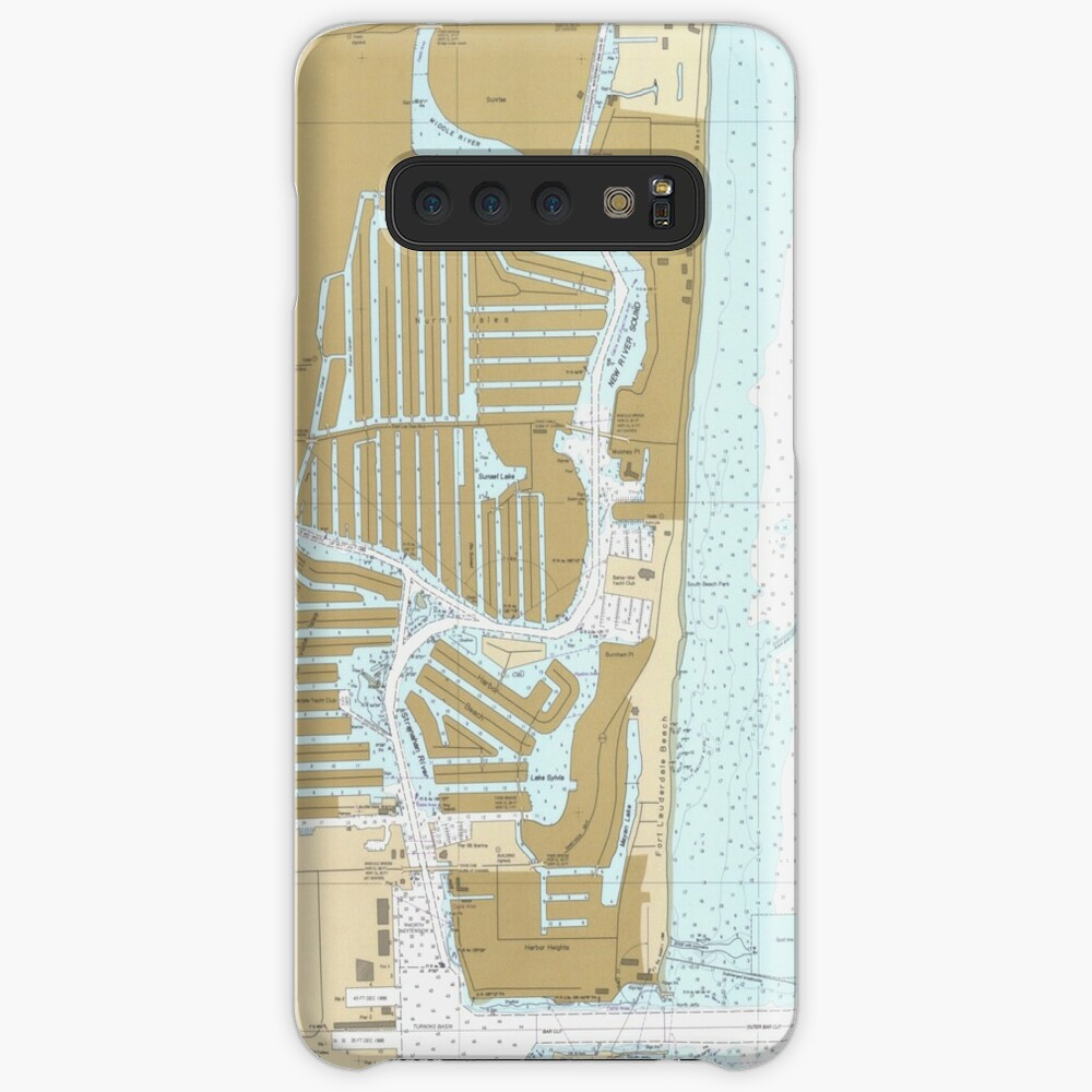 Map of Fort Lauderdale FL (1991) Case & Skin for Samsung Galaxy