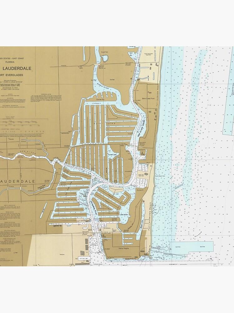 Map of Fort Lauderdale FL (1991) by BravuraMedia