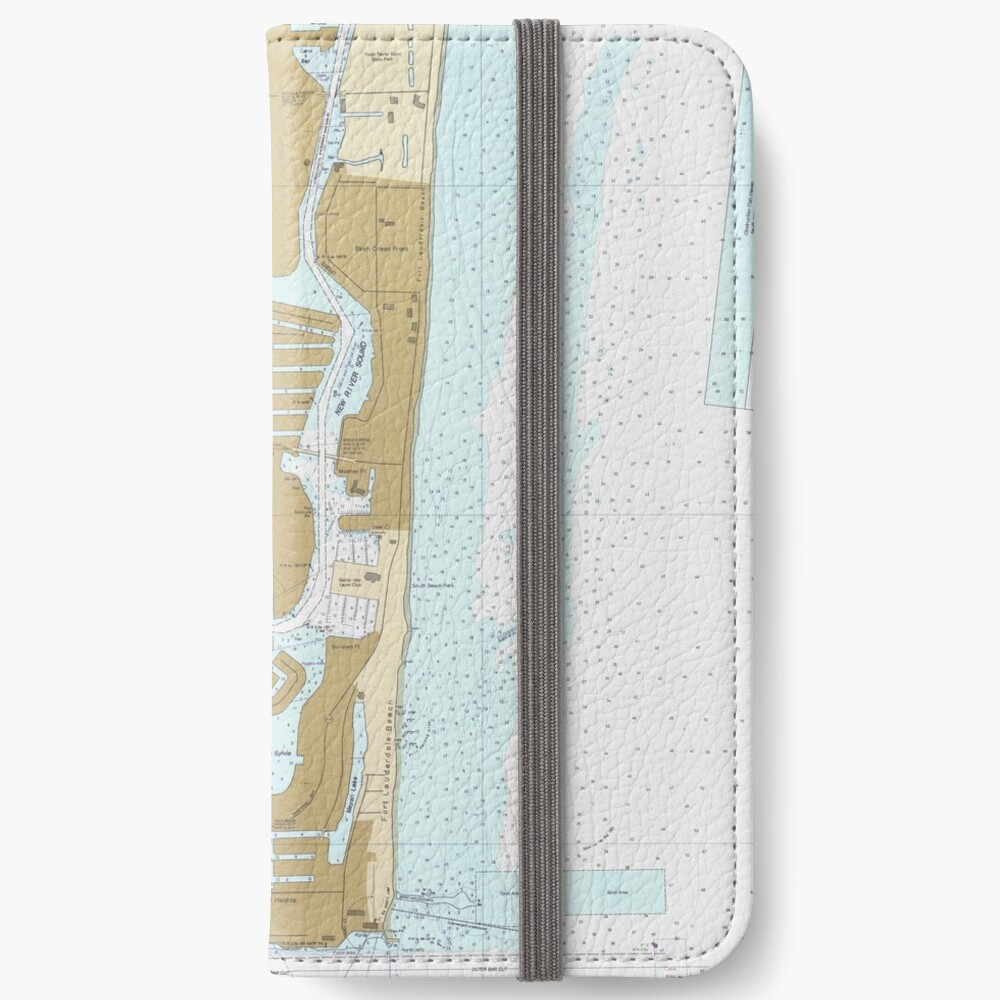 Map of Fort Lauderdale FL (1991) iPhone Wallet