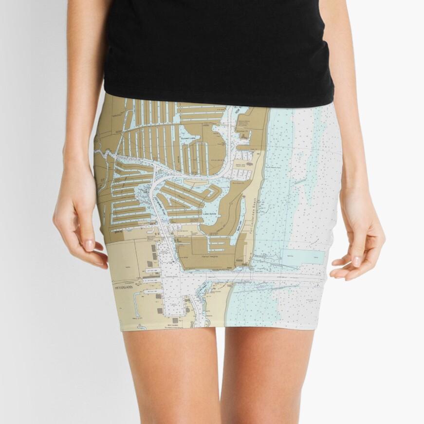 Map of Fort Lauderdale FL (1991) Mini Skirt