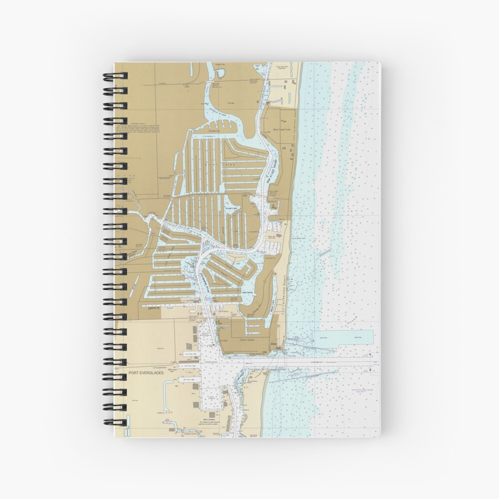 Map of Fort Lauderdale FL (1991) Spiral Notebook