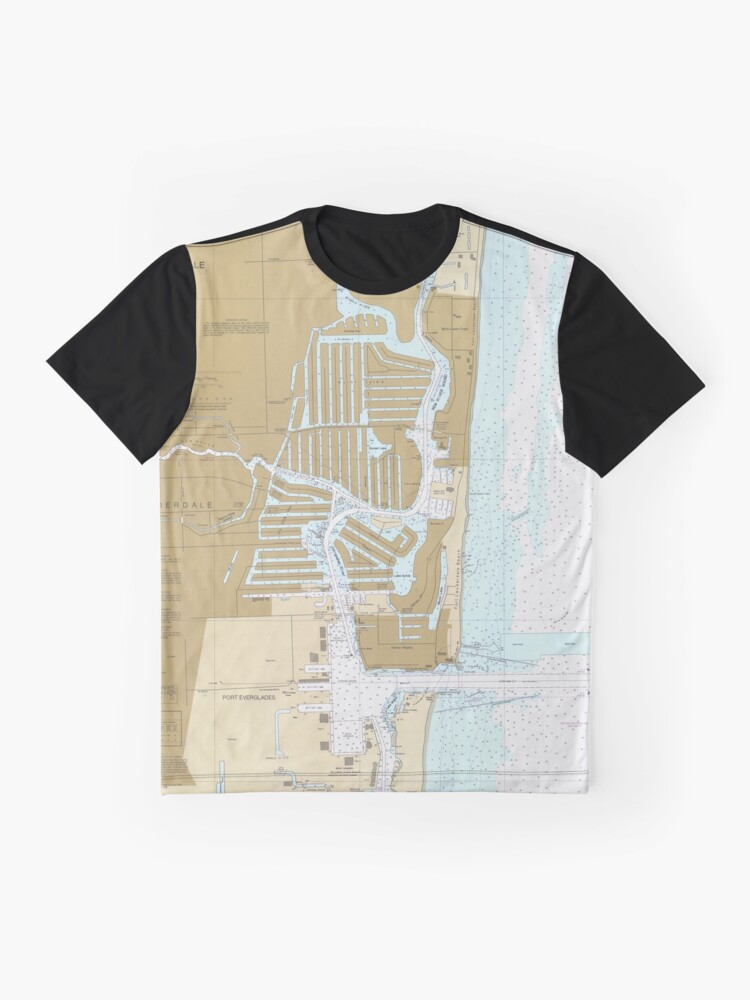 Alternate view of Map of Fort Lauderdale FL (1991) Graphic T-Shirt