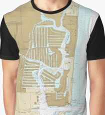 Map of Fort Lauderdale FL (1991) Graphic T-Shirt