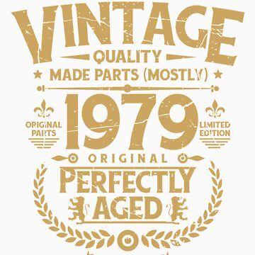 Vintage 40th Birthday Funny Tshirt 1979 Perfectly Aged by orangepieces
