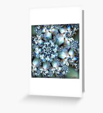Silver Blues Greeting Card