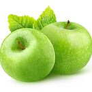 Two green apples by 6hands