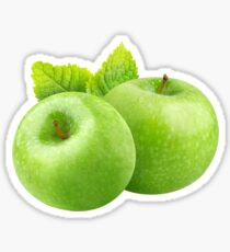 Two green apples Sticker