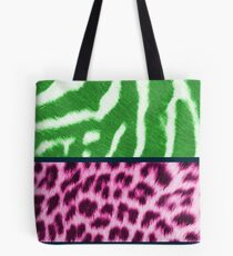Animal print green and pink Tote Bag