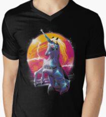 Rad Unicorn Men's V-Neck T-Shirt