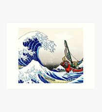 Legende von Zelda Great Wave Windwaker Kunstdruck