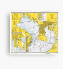 Map Of Tampa Bay Florida.Historical Map Of Tampa Fl Canvas Prints Redbubble