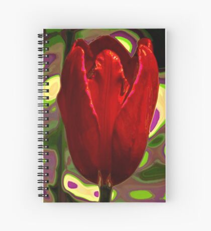 Red Tulip Spiral Notebook