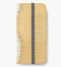 Vintage Map of Lake Michigan (1906) iPhone Wallet/Case/Skin