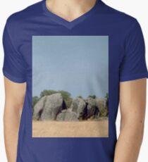 a desolate Tanzania landscape Men's V-Neck T-Shirt