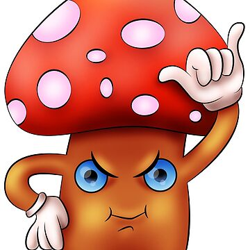 Cute angry mushroom by Melcu