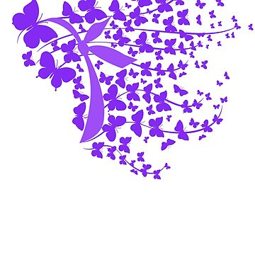 Epilepsy Awareness - Purple Butterflies TShirt by EcoKeeps