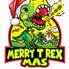Merry T Rex Mas Little Christmas Dinosaur by MudgeStudios
