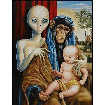 Alien Chimp Baby Religion Conspiracy by imotvoksim