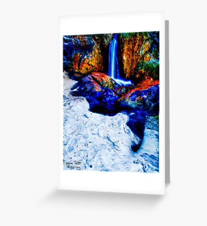 Waterfall Beach Greeting Card