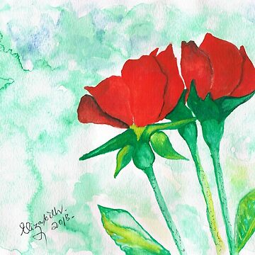 Two red roses by Happyart