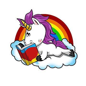 Book Addict Unicorn T-Shirt Funny Reading Lover Gift  by Ducky1000