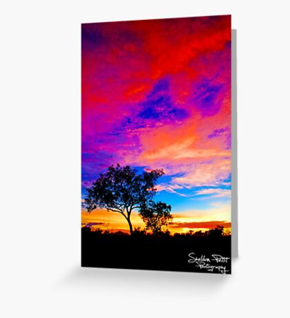 Karijini Sunrise Greeting Card
